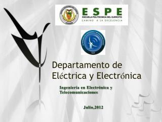 Departamento de El é ctrica y Electr ó nica