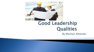 Good Leadership Qualities