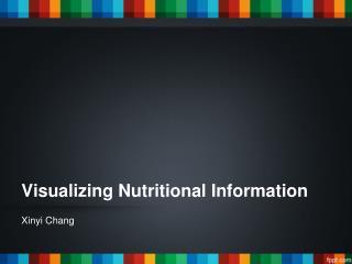 Visualizing Nutritional Information