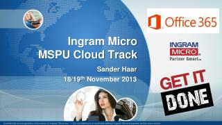 Ingram Micro  MSPU Cloud Track