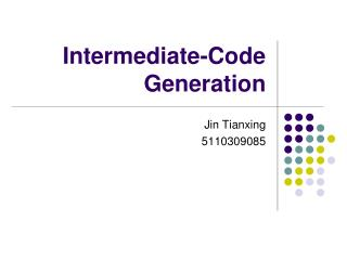 Intermediate-Code Generation