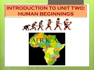 INTRODUCTION TO UNIT TWO:  HUMAN BEGINNINGS