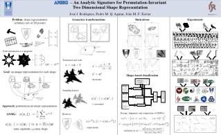 ANSIG   – An Analytic Signature for Permutation-Invariant Two Dimensional Shape Representation