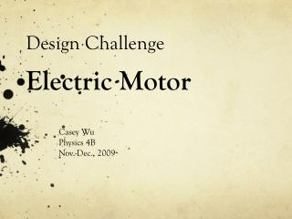 Design Challenge Electric Motor