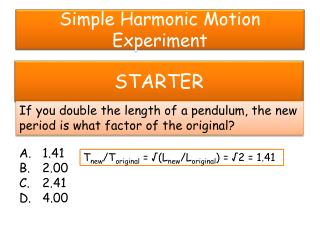 Simple Harmonic Motion Experiment