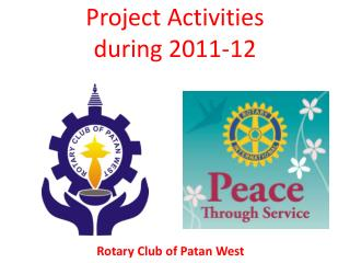 Project Activities  during 2011-12