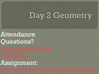 Day 2 Geometry