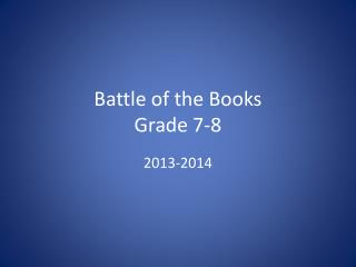 Battle of the Books Grade 7-8