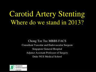 Carotid Artery Stenting Where do we stand in 2013?