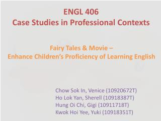 ENGL 406 Case Studies in Professional Contexts