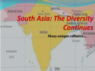 South Asia: The Diversity Continues