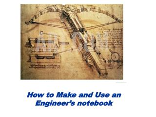 How to Make and Use an Engineer's notebook