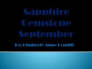 Sapphire Gemstone September