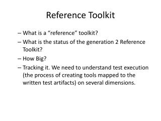 Reference Toolkit