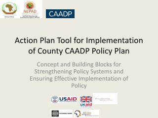 Action Plan  Tool for Implementation of  County CAADP Policy Plan