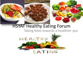 HSYAT Healthy Eating Forum