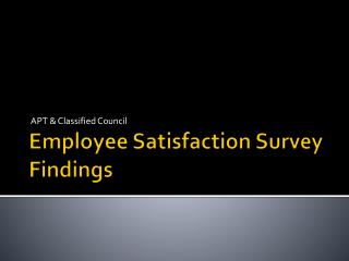 Employee Satisfaction Survey Findings