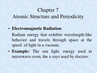 Atomic Structure Electron Configurations  Periodicity