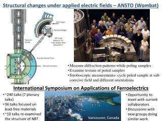 Structural changes under applied electric fields – ANSTO (Wombat)