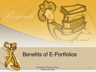 Benefits of E-Portfolios