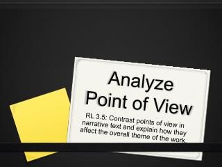 Analyze Point of View