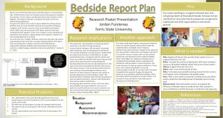 Bedside Report Plan