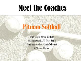 Meet the Coaches