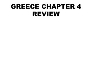 GREECE CHAPTER 4 REVIEW