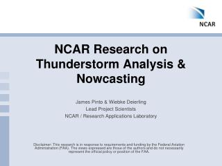 NCAR Research on Thunderstorm Analysis &  Nowcasting