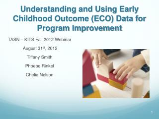 Understanding and Using Early Childhood Outcome (ECO) Data for Program Improvement