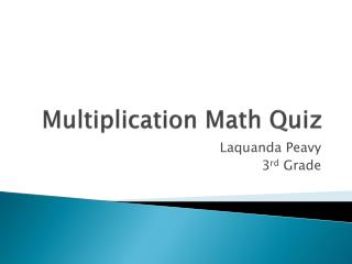 Multiplication Math Quiz