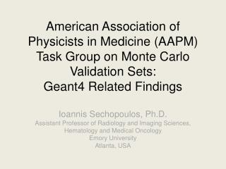 What is an AAPM TG?