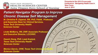 Patient Navigator Program to Improve Chronic Disease Self Management