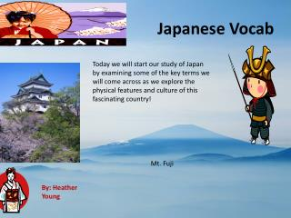 Japanese  Vocab