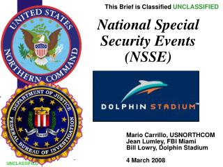 National Special Security Events (NSSE)