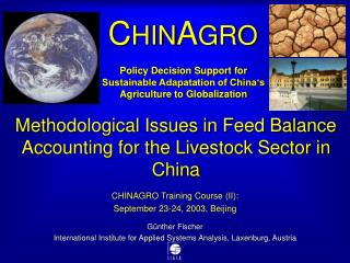 Methodological Issues in Feed Balance Accounting for the Livestock Sector in China