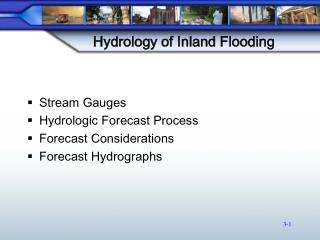Hydrology of Inland Flooding