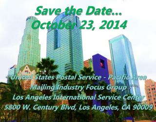Save the Date… October 23, 2014