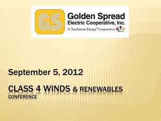 Class 4 Winds  & Renewables Conference