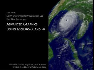 Advanced Graphics Using M cIDAS -X and -V
