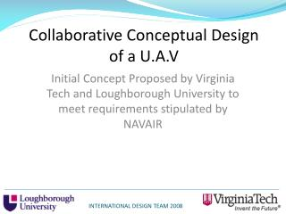 Collaborative Conceptual Design of a U.A.V