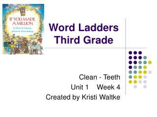 Word Ladders Third Grade