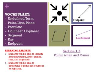 Section 1.3 Points, Lines, and Planes