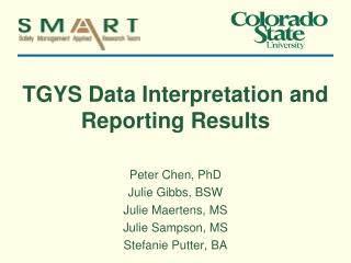 TGYS Data Interpretation and Reporting Results