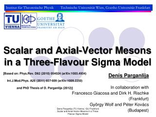 Scalar and Axial-Vector Mesons in a Three- Flavour  Sigma Model