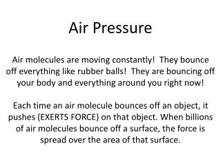 What is air pressure?