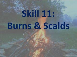 Skill  11: Burns & Scalds