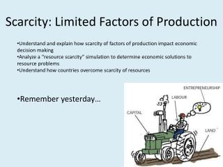 Scarcity: Limited Factors of Production