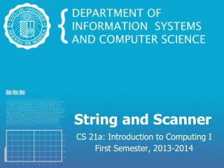 String and Scanner