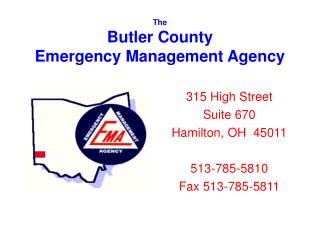 The  Butler County  Emergency Management Agency